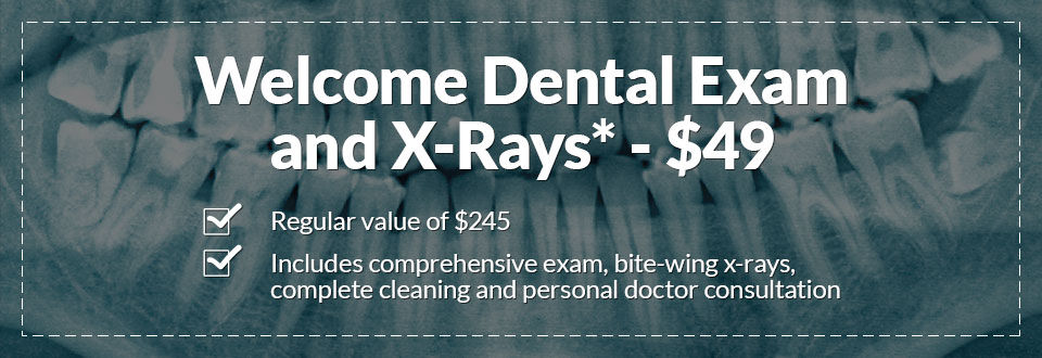 Coupon Welcome Dental Exam and X-Rays Hayward CA